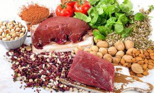 thực phẩm bổ sung sắt khi bị rụng tóc