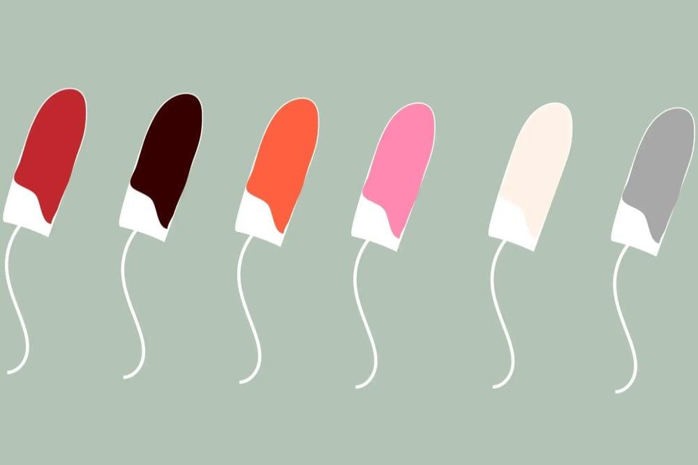 Màu sắc kinh nguyệt nói lên điều gì về cơ thể của bạn?