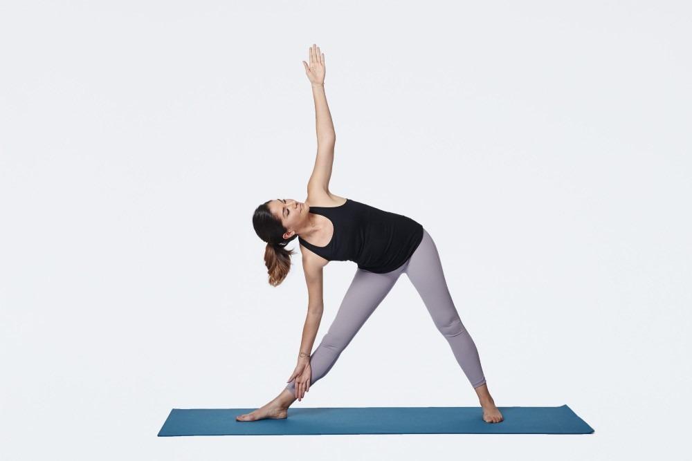 Bài tập yoga tam giác giúp tăng chiều cao