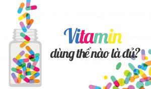 uống vitamin an toàn